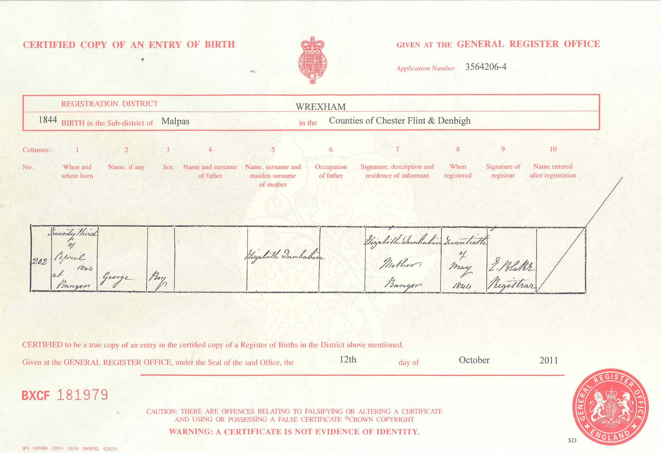 Donbavand Certificates